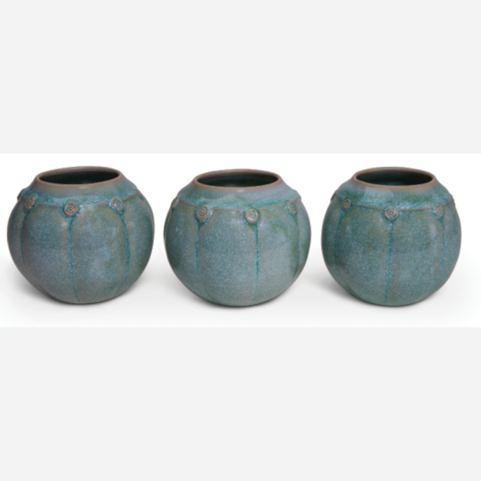 Green Ceramic Vases designed & created by Klaus Hartmann