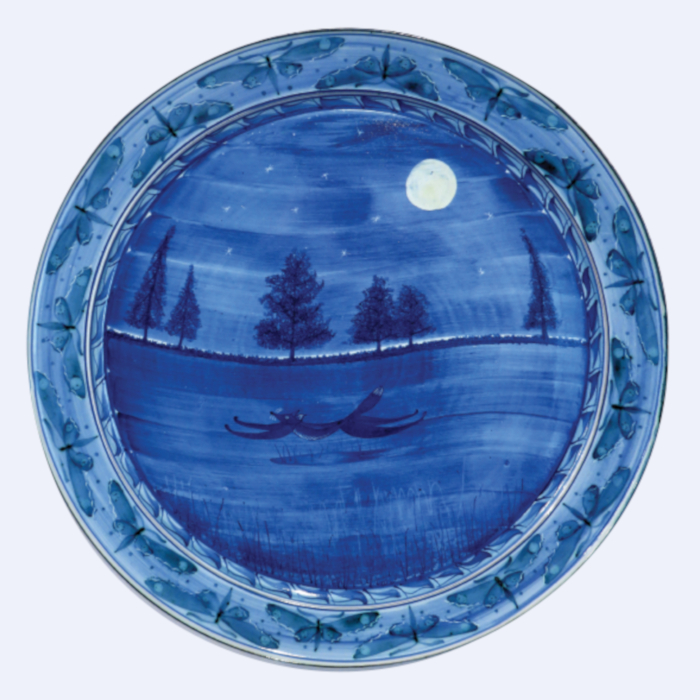 Midnight Blue Hare Bowl designed & created by Mark Campden