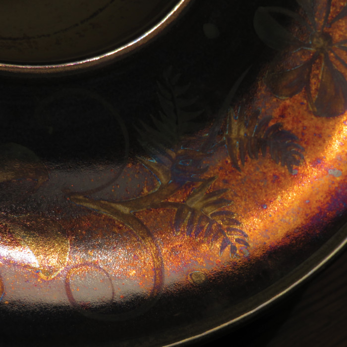Wood Fired Reduced Pigment Lustreware designed & created by Mark Campden