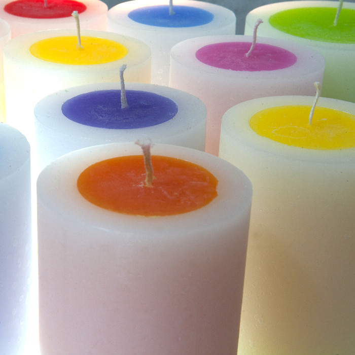 Gloworm candles designed & created by Moth to a Flame